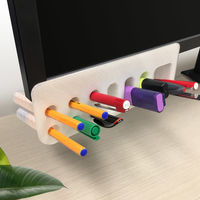 Small Desk Organiser Pen Holder - Monitor Mounted 3D Printing 218992