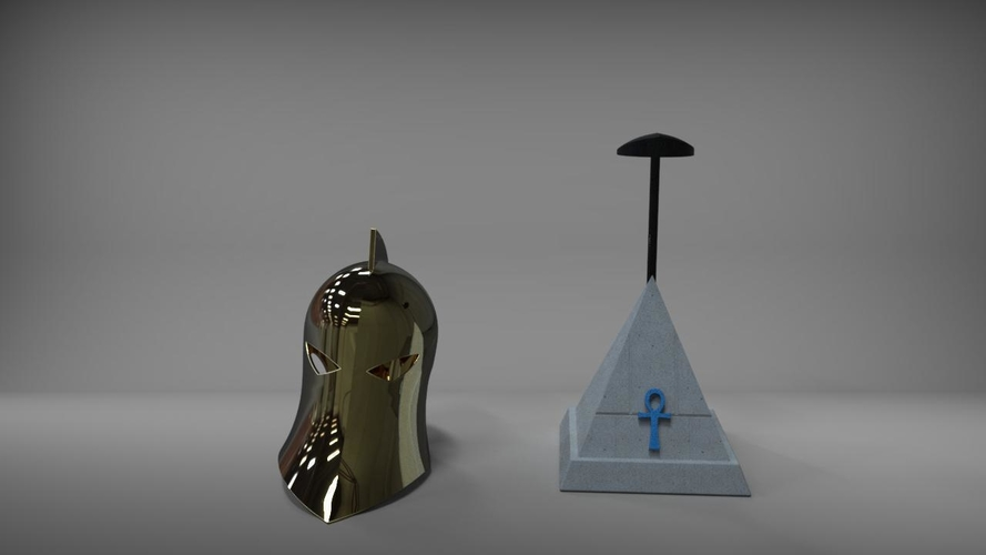 Dr Fate Helmet and stand 3D print model 3D Print 219015