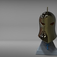 Small Dr Fate Helmet and stand 3D print model 3D Printing 219016
