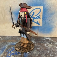 Small Jack Sparrow Nutcracker 3D Printing 219067