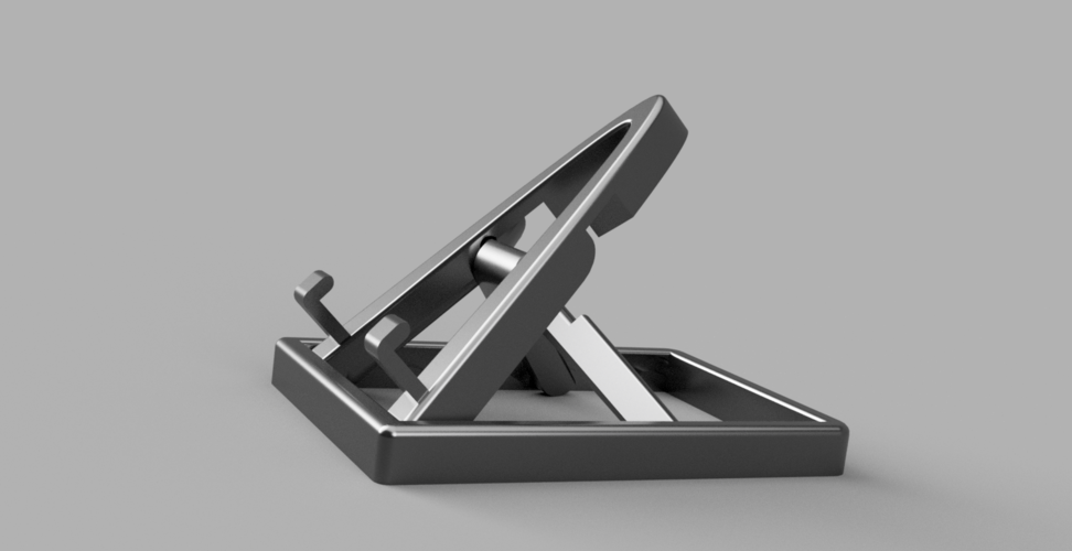 Collapsable/Adjustable Phone Stand (print in place) 3D Print 219074