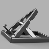 Small Collapsable/Adjustable Phone Stand (print in place) 3D Printing 219074
