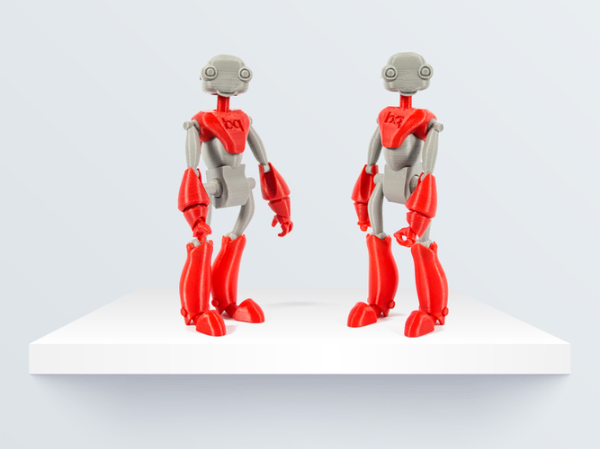 BeQui,  Jointed Robot 3D Print 219083