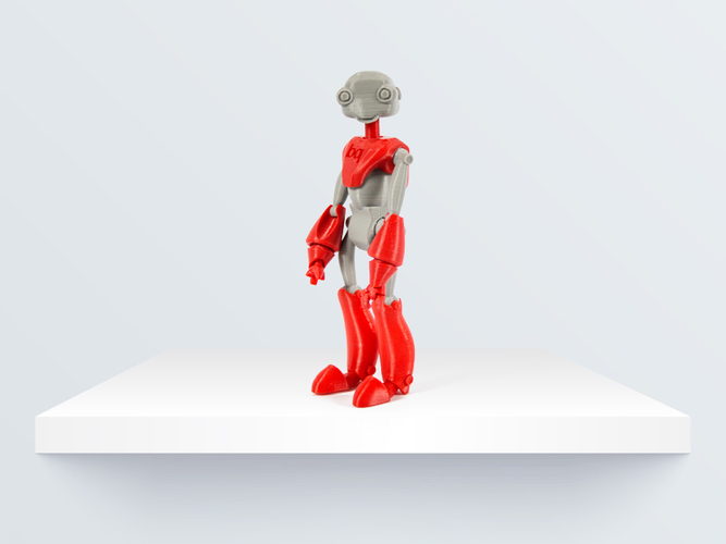 BeQui,  Jointed Robot 3D Print 219085