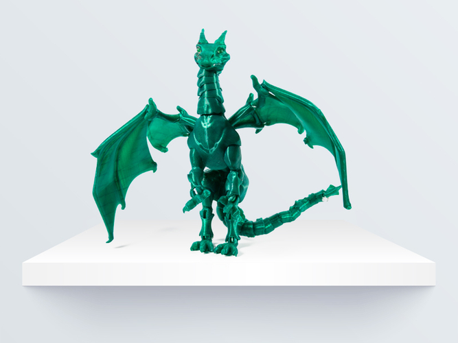 """Braq""  jointed dragon 3D Print 219086"
