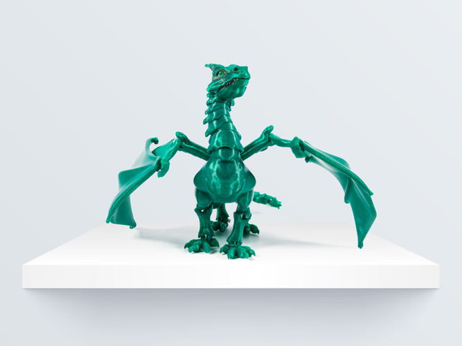 """Braq""  jointed dragon 3D Print 219088"
