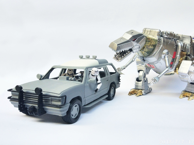 1:18 Jurassic Park Car for 3.75 Inch Figure No Support 3D Print 219217