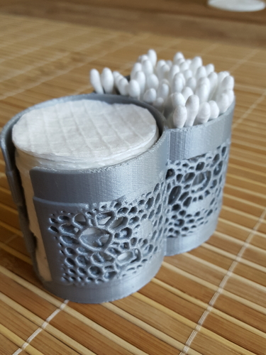 Container for cotton buds & pads v2 3D Print 219283