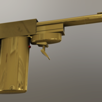 Small 007 The Man With The Golden Gun - Francisco Scaramanga Gun  3D Printing 219380