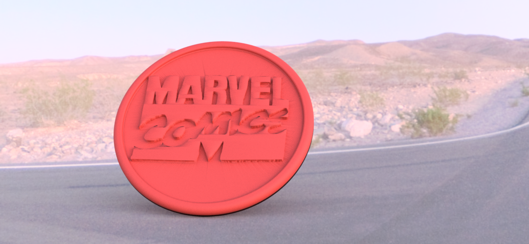 Marvel comics coaster 3D Print 219596