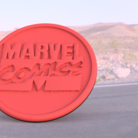 Small Marvel comics coaster 3D Printing 219596