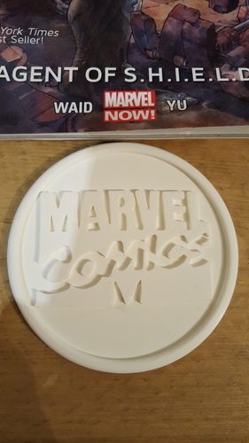 Marvel comics coaster 3D Print 219598