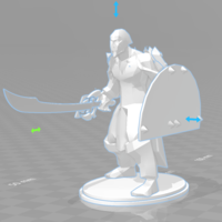 Small Dragonborn fighter 3D Printing 219604