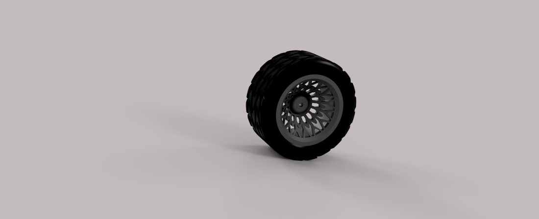 tire and wheel 3D Print 219610