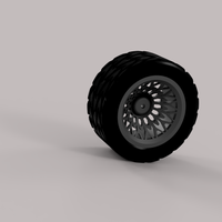 Small tire and wheel 3D Printing 219610