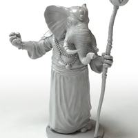 Small Elephant Wizard 3D Printing 219769