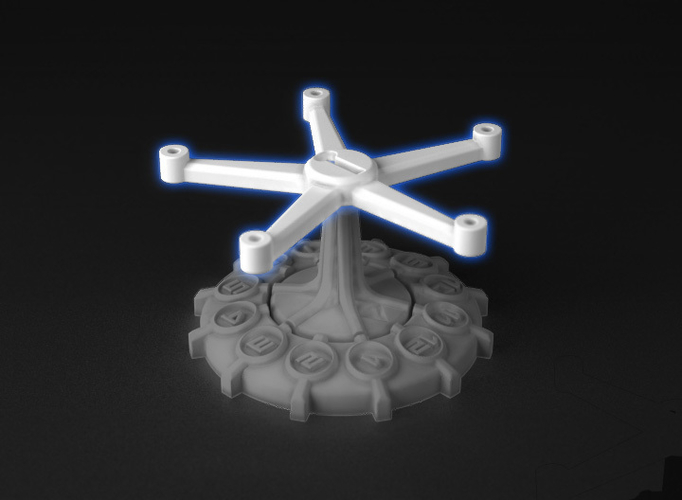 Full Thrust - Small Ship Squadron Stand Adapters 3D Print 219793