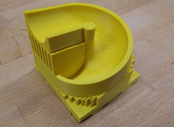 Spiral brick for rolling ball rail like a lego duplo 3D Print 219809