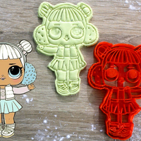 Small Lol doll cookie cutter  3D Printing 219841