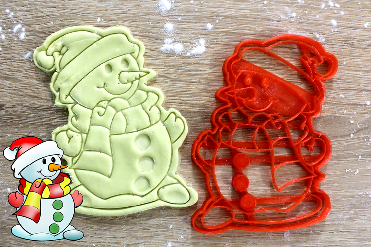 Christmas Cookie Snowman 3D Print 219842