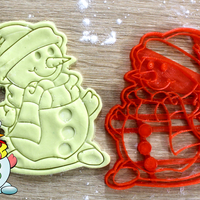 Small  Christmas Cookie Snowman 3D Printing 219842