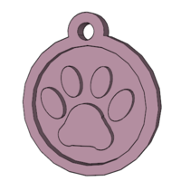 Small Dog Paw Pendant 3D Printing 21985