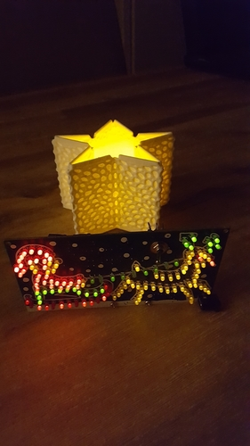 Christmas thealight holder (electronic) 3D Print 219871