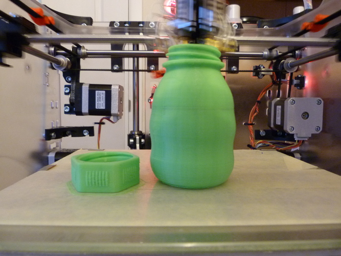 Small Bottle with safety cap ( left hand thread ) 3D Print 21998