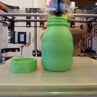 Small Small Bottle with safety cap ( left hand thread ) 3D Printing 21998