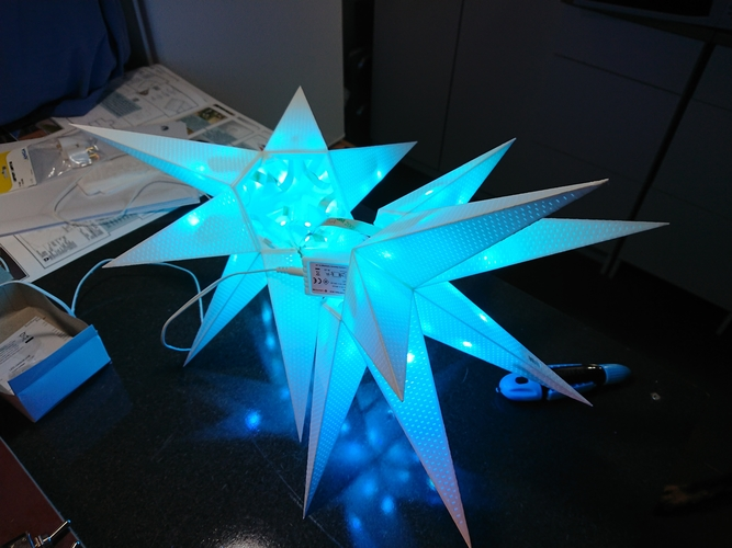 Detachable Ikosaeder Xmas Star 3D Print 219992