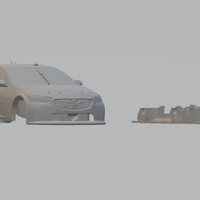 Small 2018 Holden Commodore Supercars 3D Printing 220113