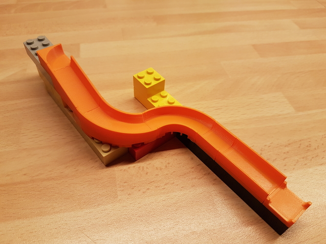 Lego Marble Run Brick - 12x12 Twister 3D Print 220119