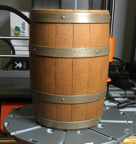Wooden Barrel Model Kit 3D Print 220162