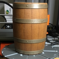 Small Wooden Barrel Model Kit 3D Printing 220162