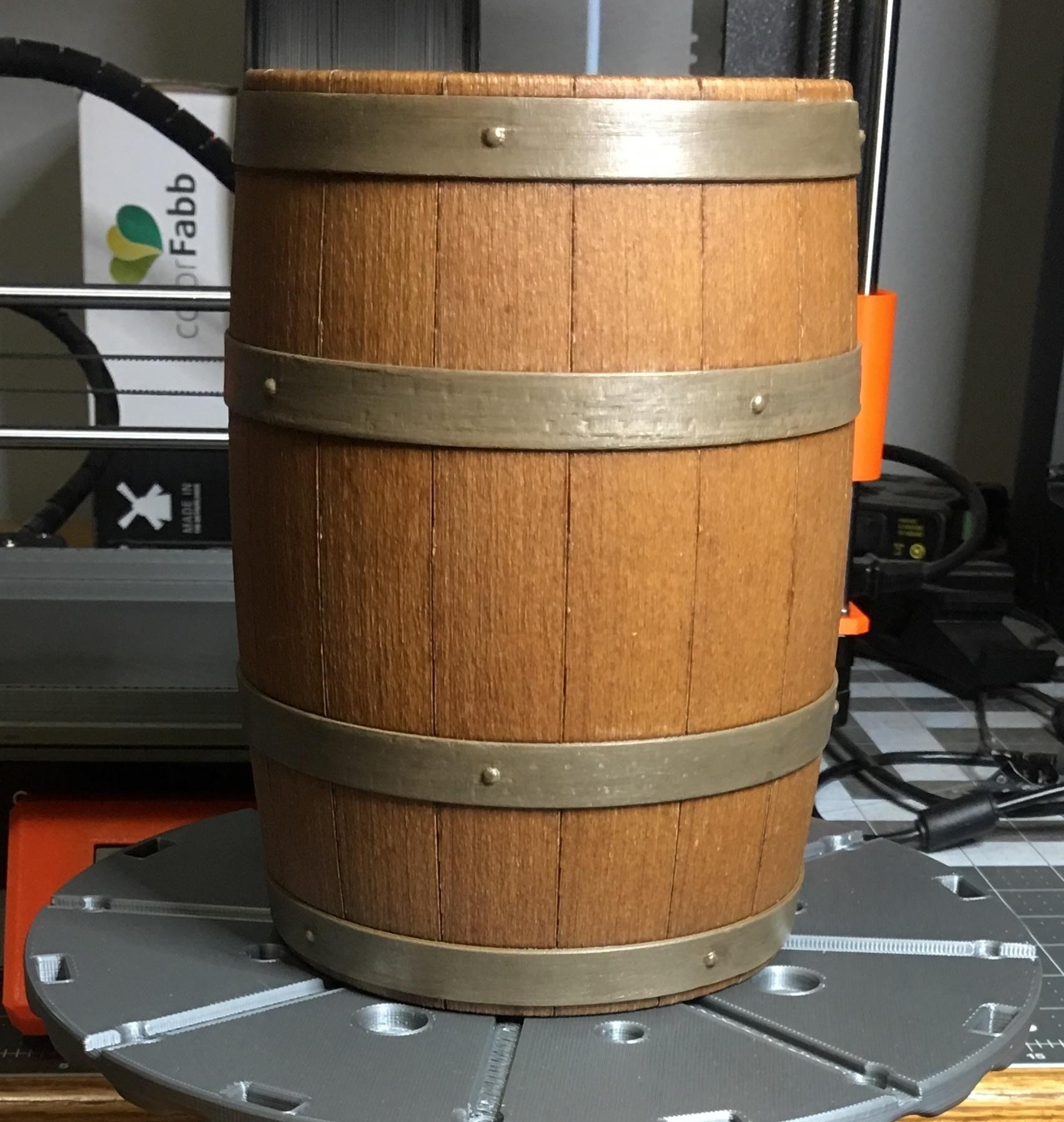 3d Printed Wooden Barrel Model Kit By Papagolfdesigns At Shawca Pinshape