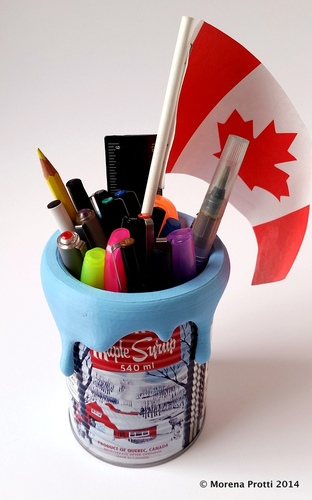 Maple Syrup Can Top - Pencil Holder Decoration 3D Print 22027