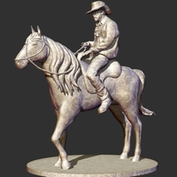 Small Cowboy Sculpture 3D Printing 220299