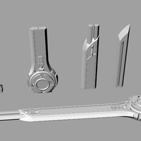 Small Power rangers ninja steel sword 3D print model 3D Printing 220324