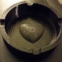 Small Ashtray with heart in the middle 3D Printing 22045