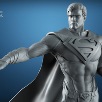 Small Superman -3d print ready 3D Printing 220644