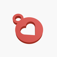Small Keychain heart 3D Printing 220714