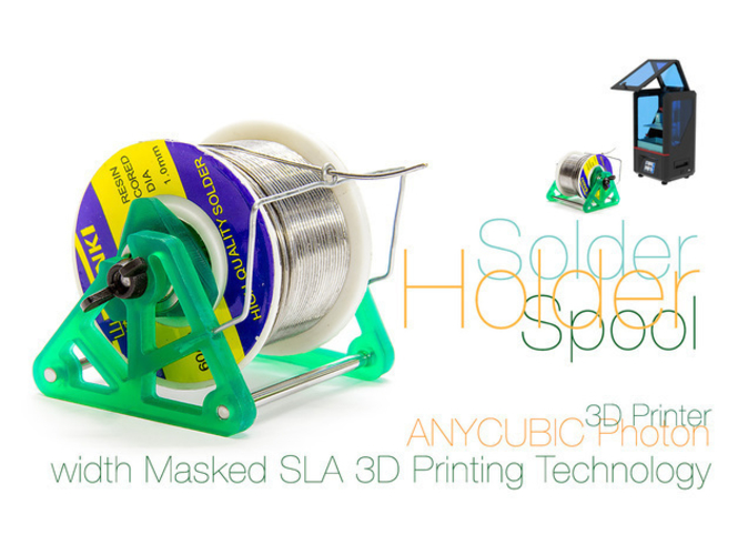 Solder Spool Holder with Masked SLA 3D Printing Technology 3D Print 220742