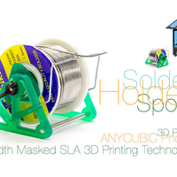 Small Solder Spool Holder with Masked SLA 3D Printing Technology 3D Printing 220742