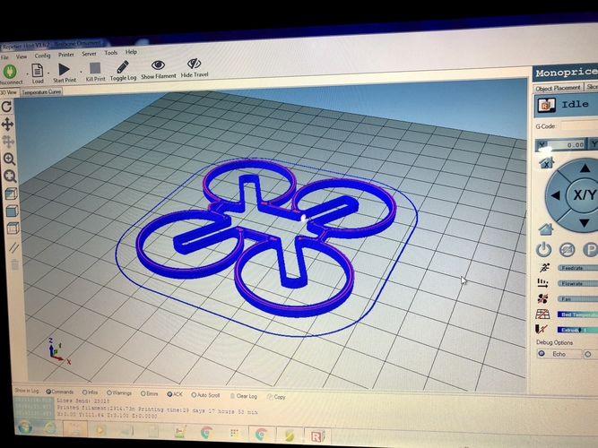 Mini Quad Ornament 3D Print 220782