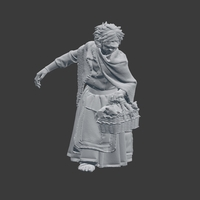 Small Rat Lady NPC 3D Printing 220806