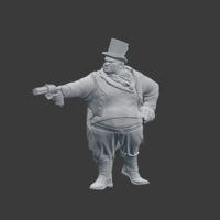 Small Victorian Dandy 3D Printing 220808