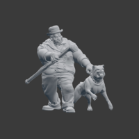 Small Victorian Tough with dog 3D Printing 220840