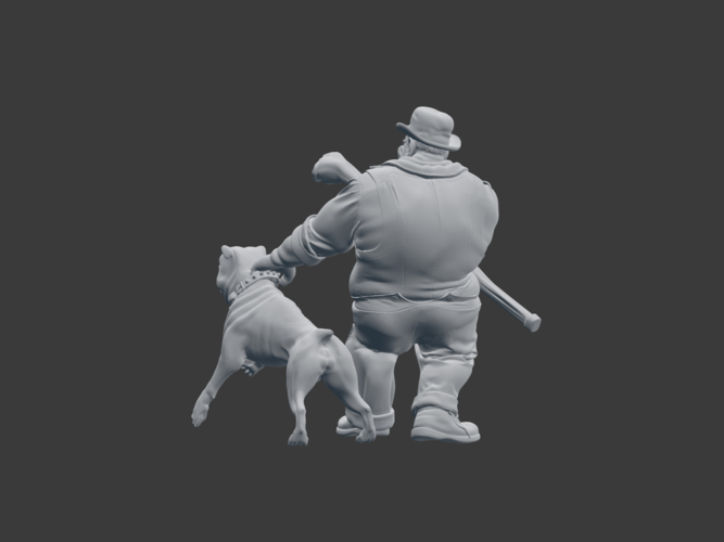 Victorian Tough with dog 3D Print 220842