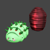 Small Fabre & Pupa Fan Art STL for 3DPrint 3D Printing 220939