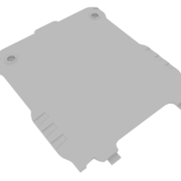 Small Sigma PQ22 - Battery Back Panel 3D Printing 221018